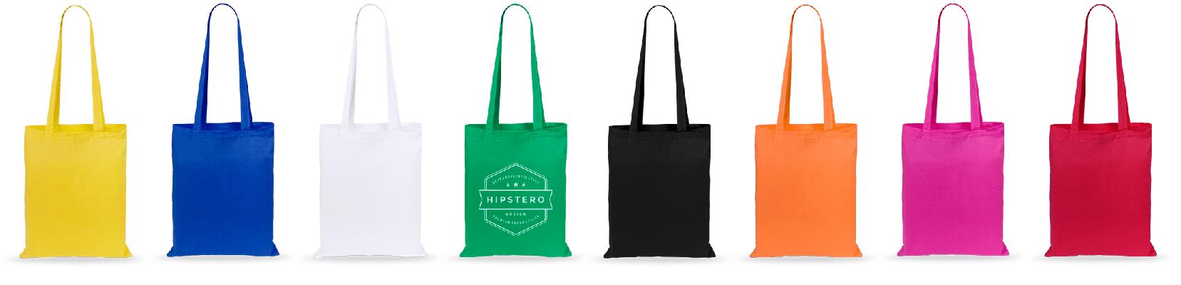 Las bolsas de tela de algodón son 100% ecológicas ya que son biodegradables, son bolsas muy resistentes y reutilizables. Además de ser muy prácticas responden muy bien a muchos usos. Tanto para tiendas como para utilizar de bolsas de comprar o simplemente para publicidad. Están disponibles en una gran variedad de colores.