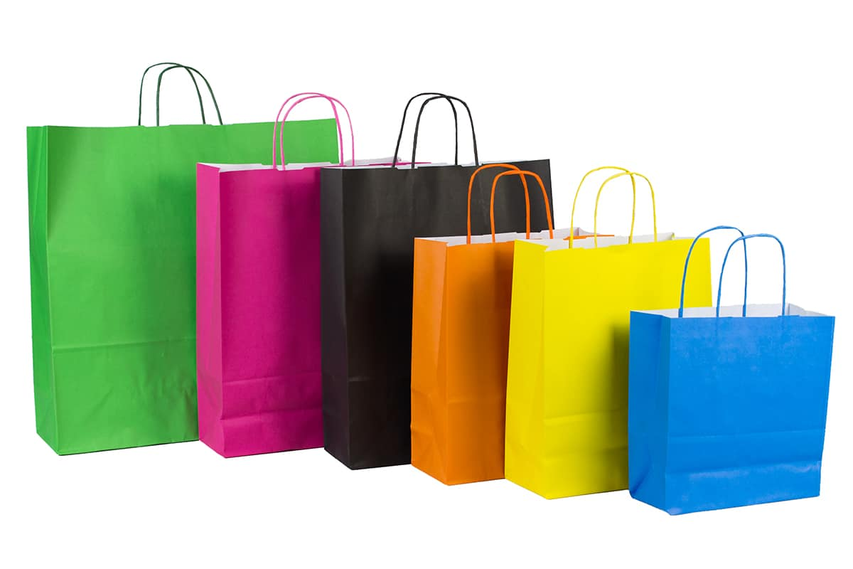Bolsas de papel ecológico.