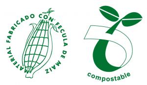 Bolsas compostables de maíz